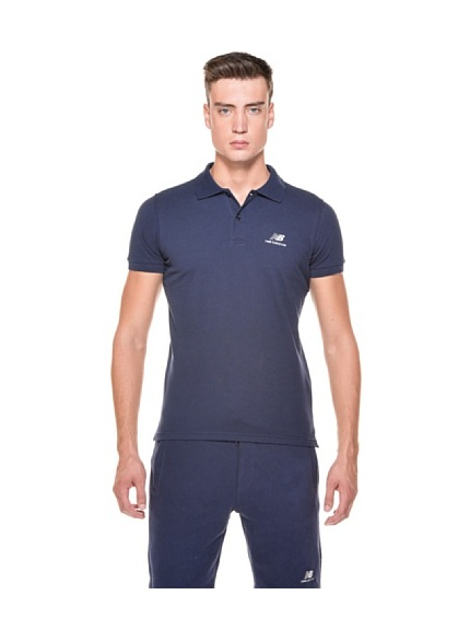 New Balance Polo Piquet Essential (Blu)