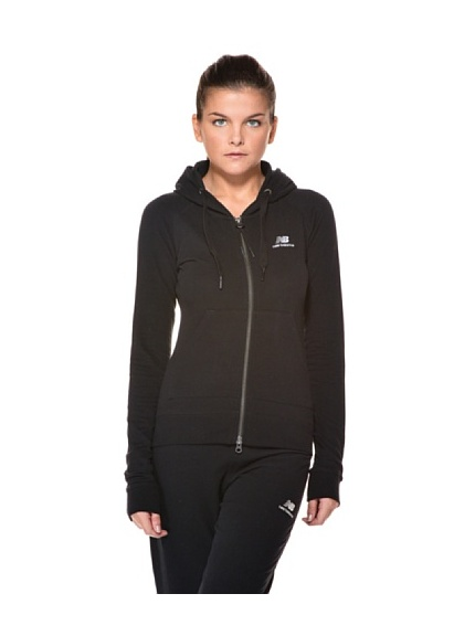New Balance Felpa Woman Full Zip Stretch Essential (Blu)