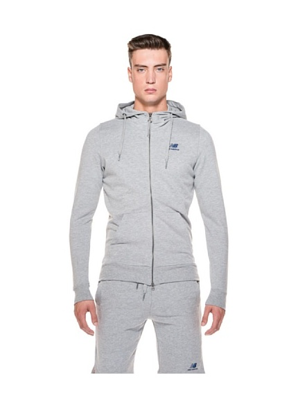 New Balance Felpa Full Zip Hood Essential (Blu)