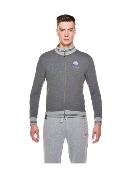 New Balance Giacca Full Zip (Blu)