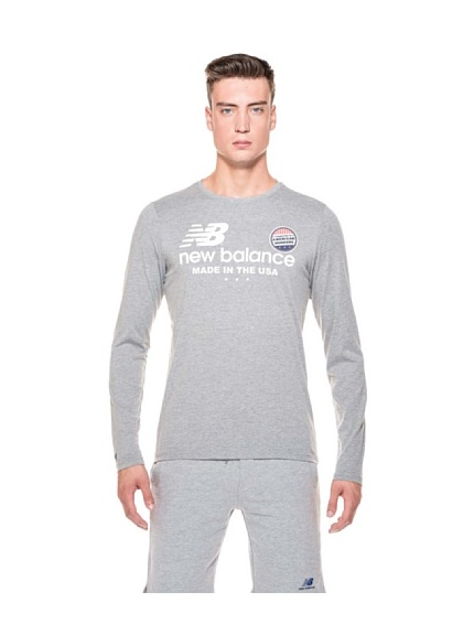 New Balance T-Shirt ML American Workers (Grigio)