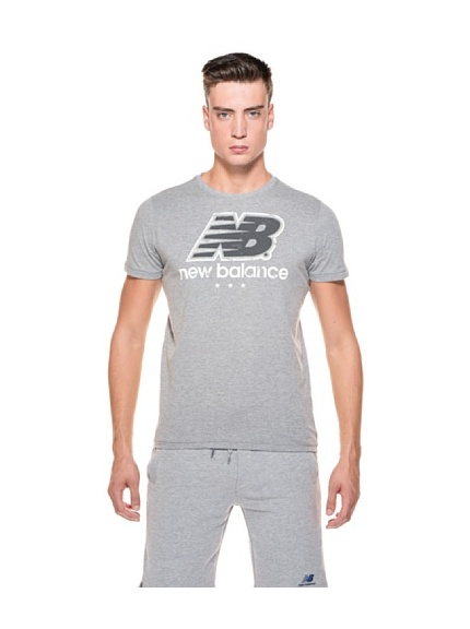 New Balance T-Shirt MC Big Logo (Grigio)