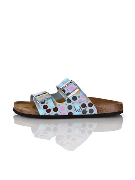 World Walker Licensed by Birkenstock Sandalo Bonny (Bianco)