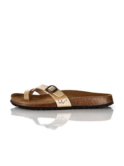 World Walker Licensed by Birkenstock Sandalo Silvia (Champagne)