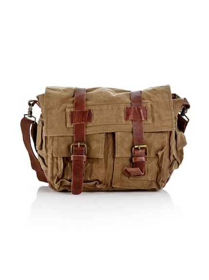 Timberland SATCHEL CANVAS BAG M2238, Borsa unisex adulto (Cammello)